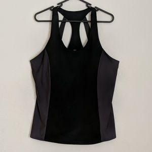 Fabletics Gym Workout Tank Black Grey 1X Plus Size